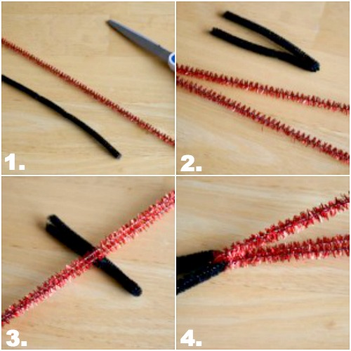 Steps to make a pipe cleaner lightsaber