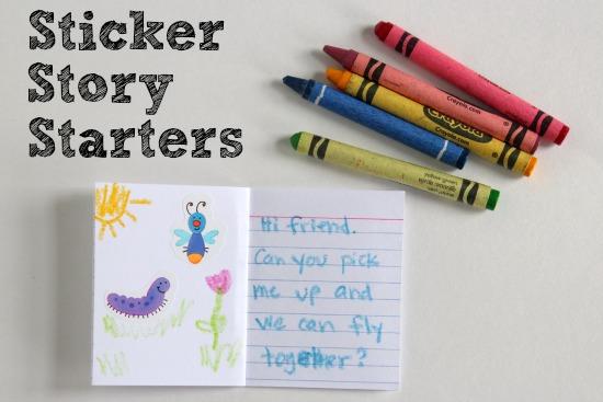 Sticker Story Starter Craft for Kids
