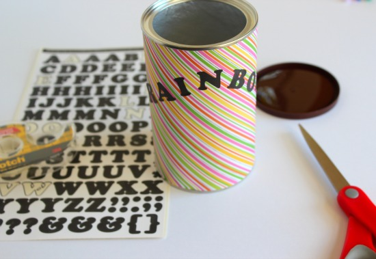 Stickers for Rainbow in a Can craft