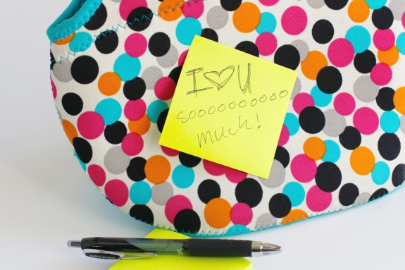 Sticky Notes for Sending Love Notes to Kids at Lunch