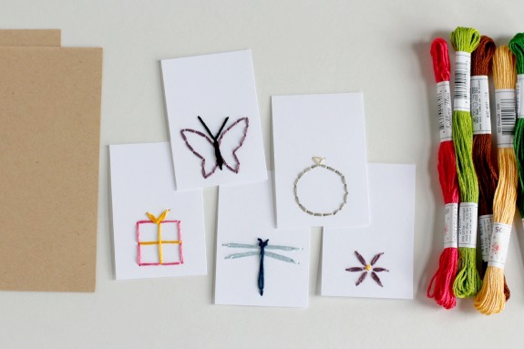 Stitching DIY Gift Tags @makeandtakes.com