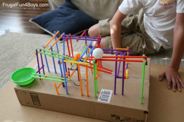 Build a Straw Roller Coaster