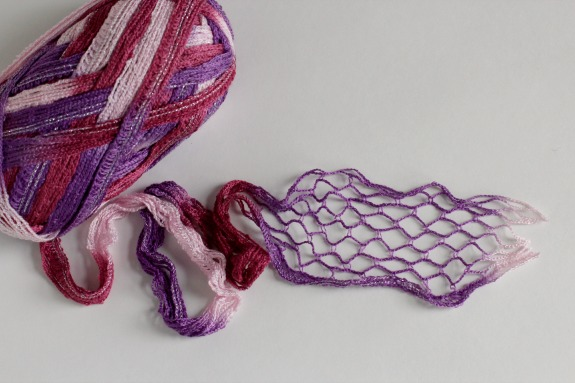 Stretching Out Ruffles Yarn for Crochet