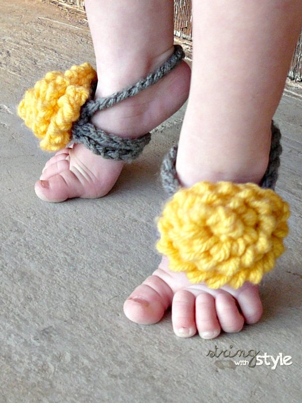 String With Style Baby Barefoot Sandals
