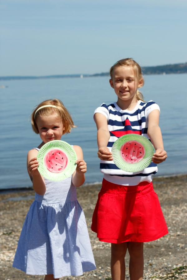Summer Beach Fun with Watermelon Frisbee Flyers