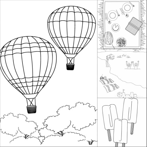 Summer Fun Printable Coloring Pages  Make and Takes