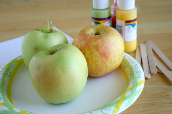 Supplies for Apple Print Pictures