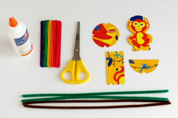 Supplies for Cereal Box Puppets