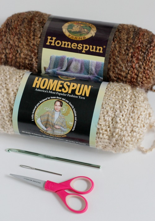 Supplies for Crochet Hand Warmers