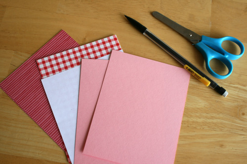Supplies for Cutting out Hearts