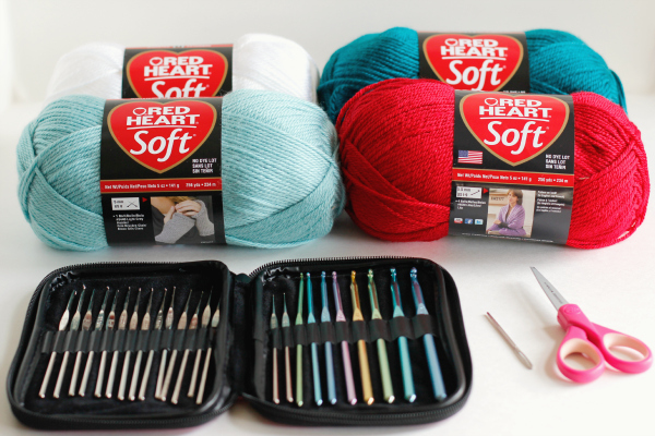 Supplies for Holiday Crochet Garland