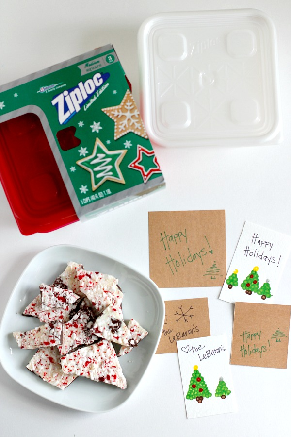 Supplies for Neighbor Gifts with Ziploc