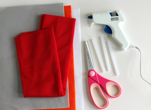 Supplies for No-Sew Superhero Cape