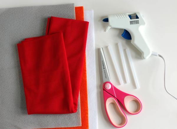 Supplies for No-Sew Superhero Cape