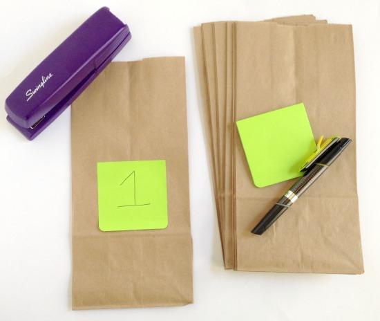 Supplies for Road Trip Grab Bags