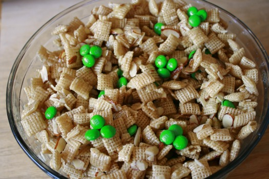 Sweet Chex Mix with Chocolate candies