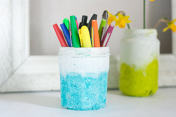 Textured Ombre Pen Cup Container