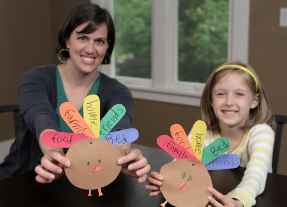 Thankful Turkey Thanksgiving Kids Craft makeandtakes.com