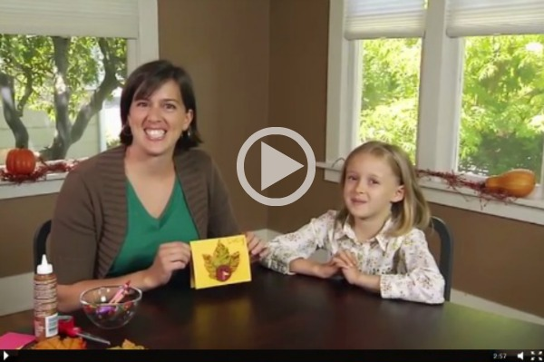 Thanksgiving Kids Craft Turkey Place Cards makeandtakes.com