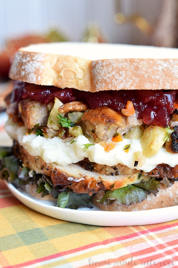 Thanksgiving Leftovers Sandwich