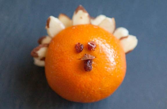 Thanksgiving Orange Turkey Table Favor