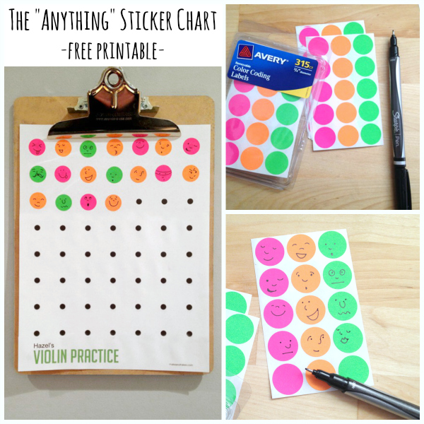 graphic relating to Free Printable Sticker Charts referred to as The Some thing Sticker Chart - No cost Printable! Crank out and Will take