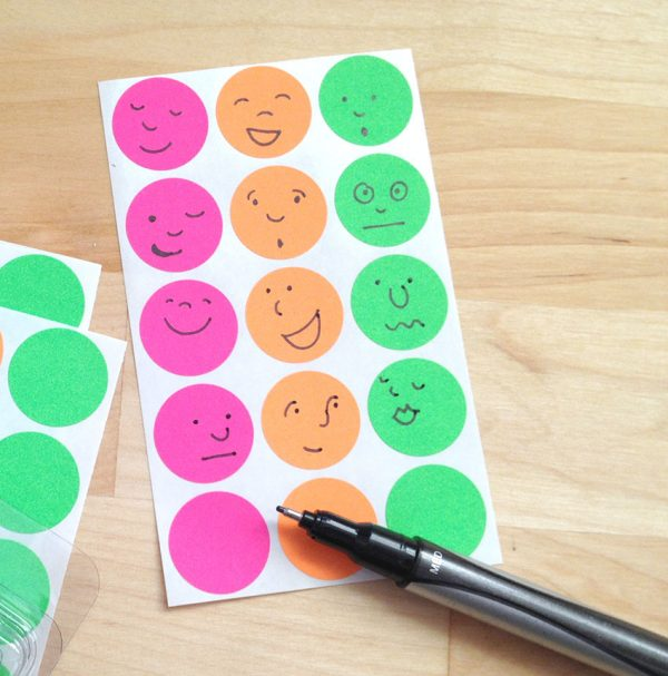 The Anything Sticker Chart with sticker faces