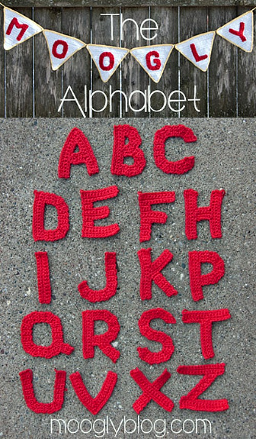 The Moogly Crochet Alphabet Pattern