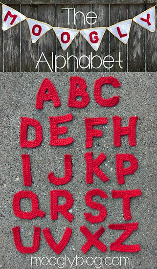 The Moogly Crochet Alphabet Pattern