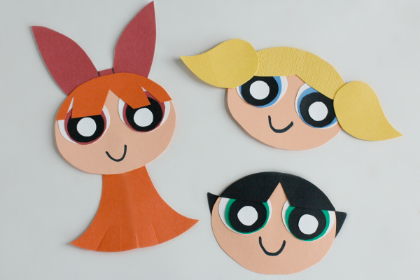 The Powerpuff Girls Craft Stick Puppets Make And Takes