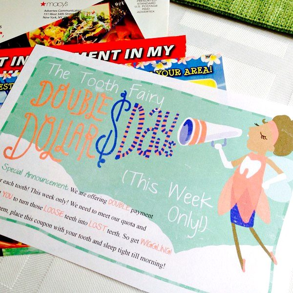 The Tooth Fairy Double Dollar Days Printable