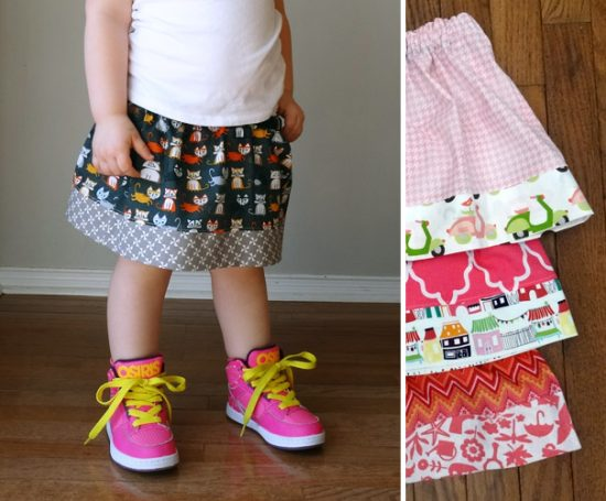 Simple Fat Quarter Skirt