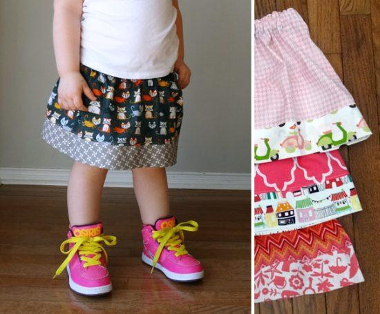 Simple Fat Quarter Skirt