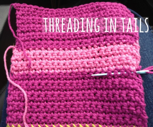 Threading in Crochet Tails