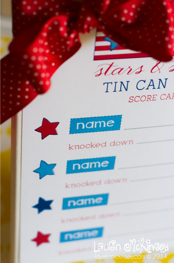 Tin Can Toss Game for Kids with Printable Score Card