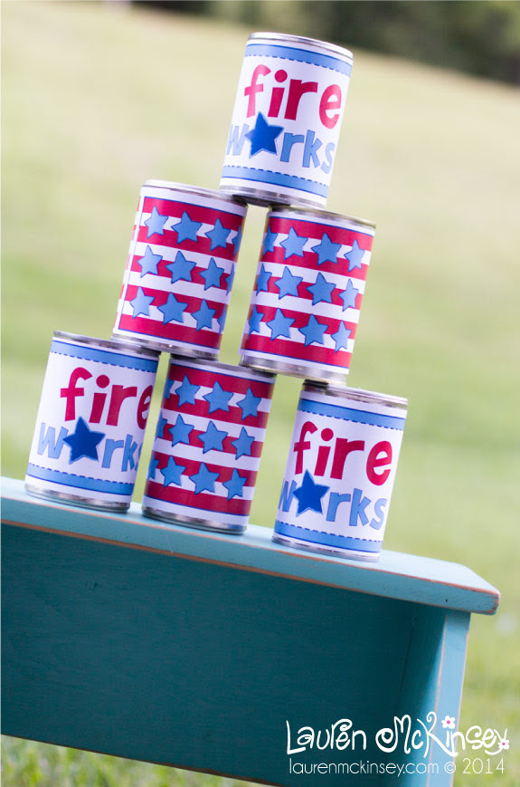 Tin Can Toss Game + Free Printables | Make and Takes