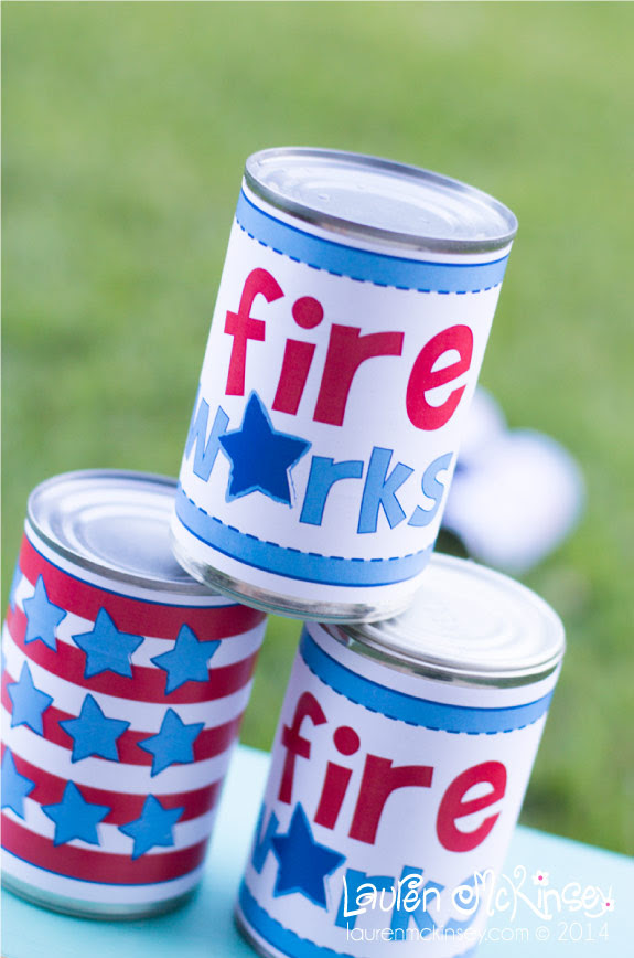 Tin Can Toss Game to Play with Kids