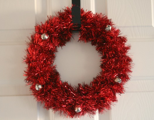 Tinsel Holiday Wreath