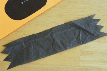 Tissue Paper Bat Card