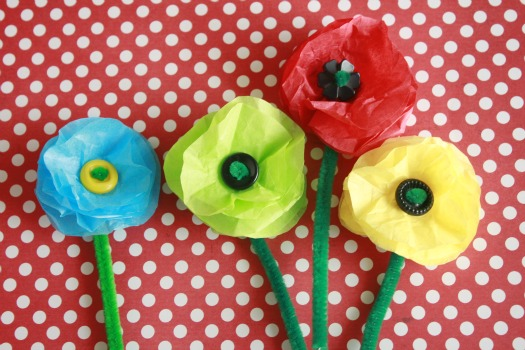 7 spring flower crafts to brighten your day make and takes tissue paper flowers mightylinksfo Gallery