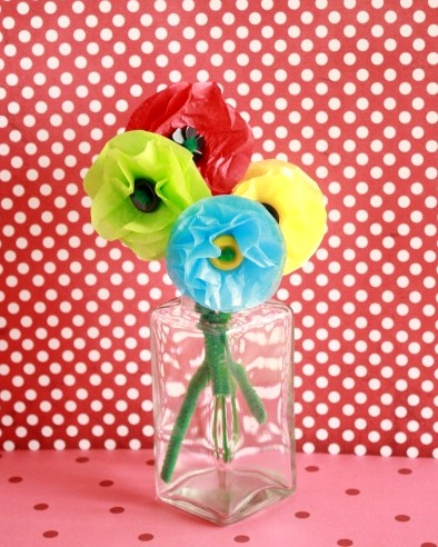 Tissue paper flowers for any occasion make and takes want mightylinksfo Gallery