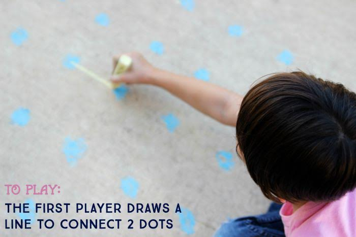 To Play Sidewalk Chalk Games for Kids- Dots and Boxes