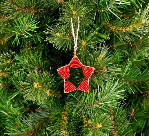 To The Market Red Star Christmas Ornament