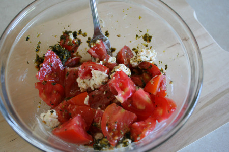 Tomato Goat Cheese Pesto Recipe