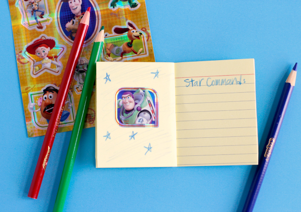 Toy Story Disney Stickers to Make a Story Starter Kids Craft
