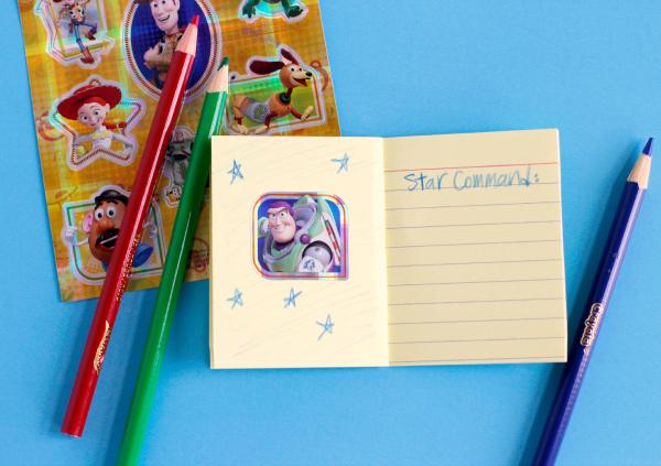 Toy Story Disney Stickers to Make a Story Starter Kids Craft