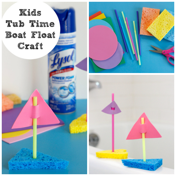 Tub Time Boat Float Collage