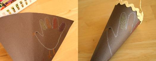 how to make a paper cornucopia