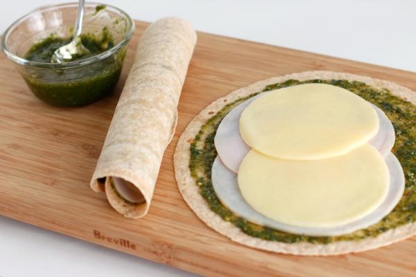 Turkey Pesto Roll-Ups for School Lunch