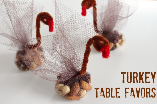 Turkey Table Favors For Your Thanksgiving Table Make And